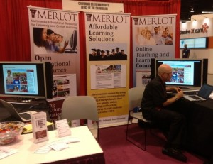 MERLOTII Booth at Educause '13